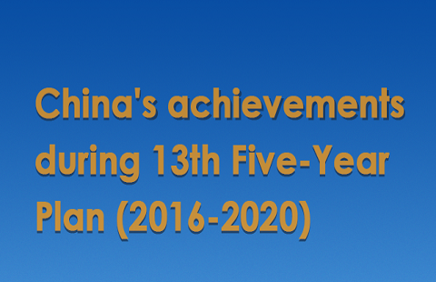 China's achievements during 13th Five-Year Plan (2016-2020)